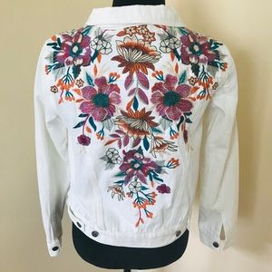 NWT Johnny Was Nena white Denim Jacket size xs